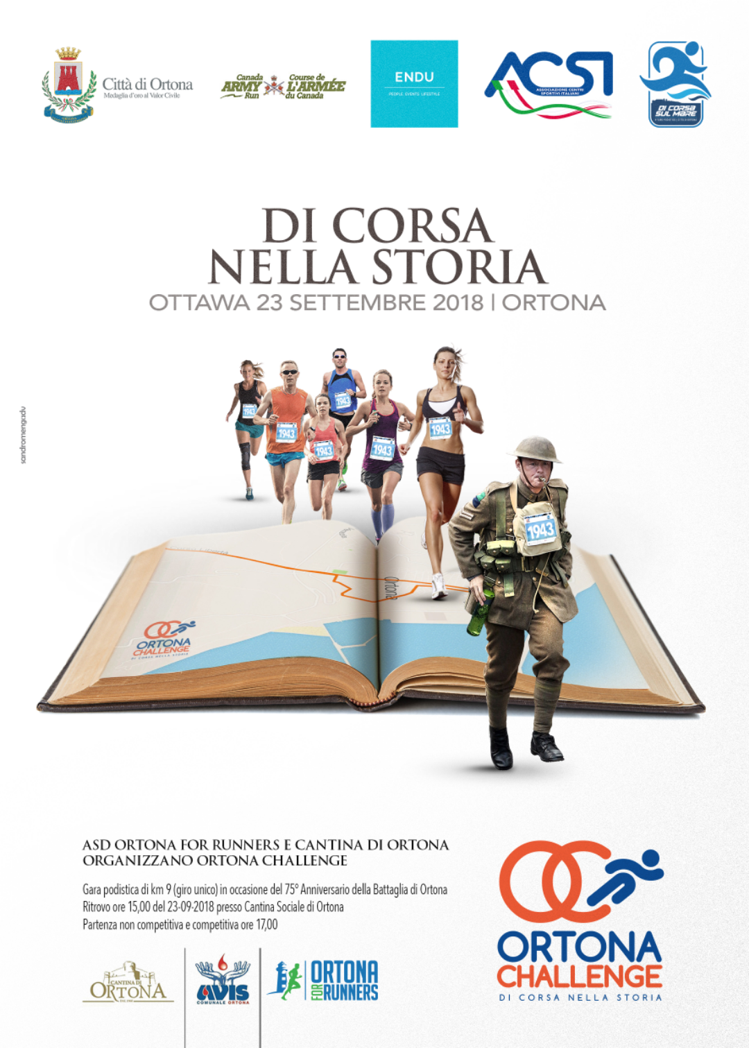 1st edition of the Ortona Challenge race in tandem   with Ottawa, Canada. Join us!